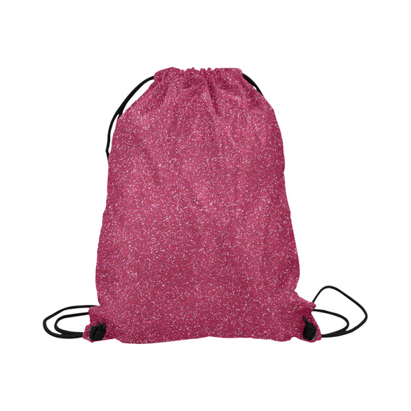 Hot Pink Glitter Drawstring Bag