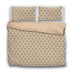 Duvet Set - 3pc Cover + Pillowcases - WO19 White Lattice Paper Bag