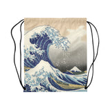 Hokusai The Great Wave Off Kanagawa Drawstring Bag