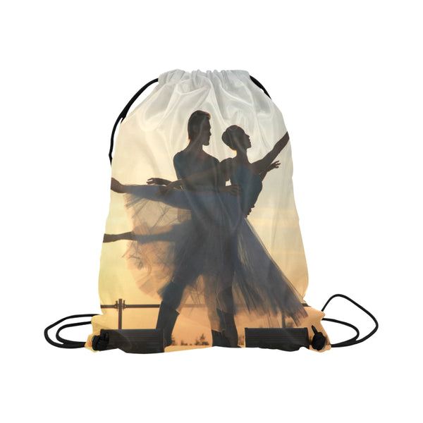 Ballet Lift Large Drawstring Bag