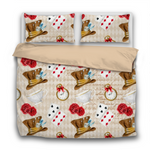 Duvet Set - 3pc Cover + Pillowcases - AW7 Alice In Wonderland Mad Hatter