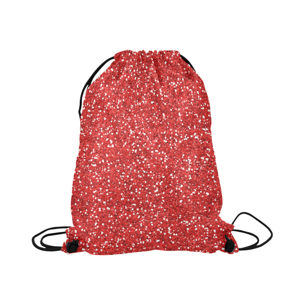 Red Glitter Drawstring Bag