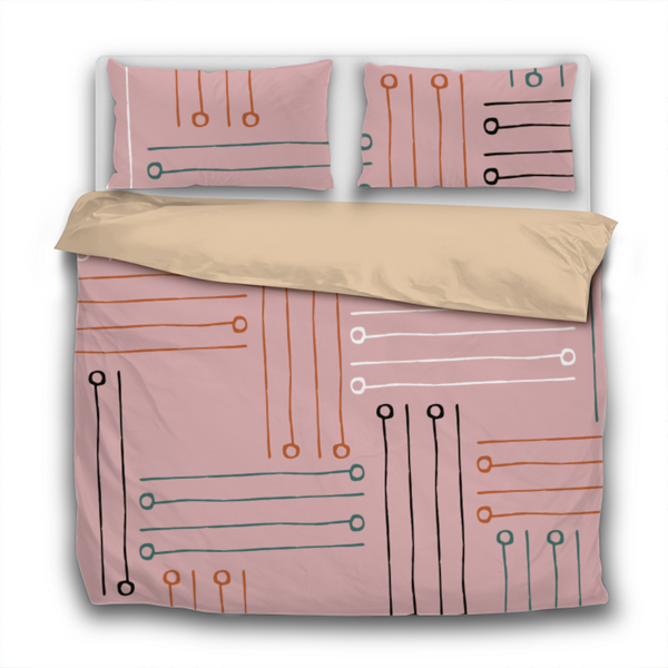 Duvet Set - 3pc Cover + Pillowcases - Fifties Inspired FI6