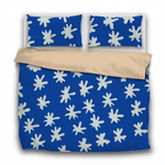 Duvet Set - 3pc Cover + Pillowcases - HD10 In The Navy Dark Blue with Diagonal Hand Drawn Stars Print