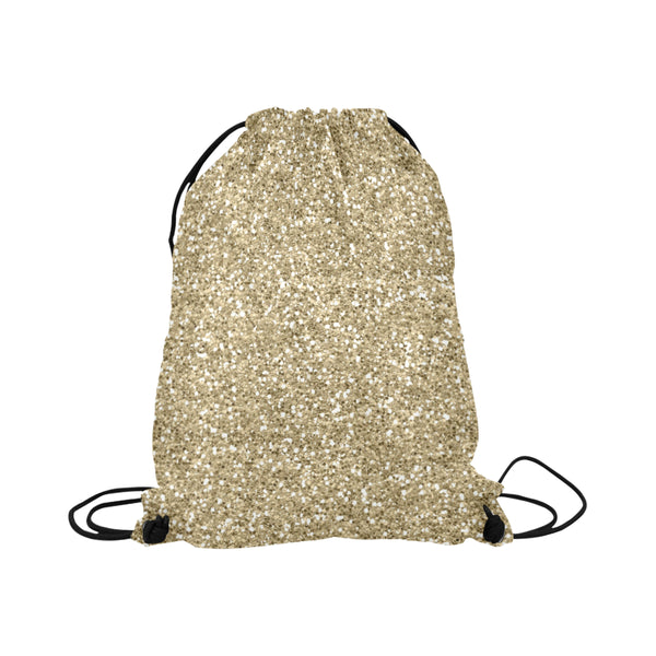 Gold Glitter Drawstring Bag