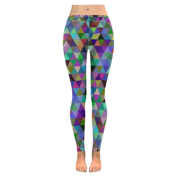Dark Multi Tri All-Over Low Rise Leggings