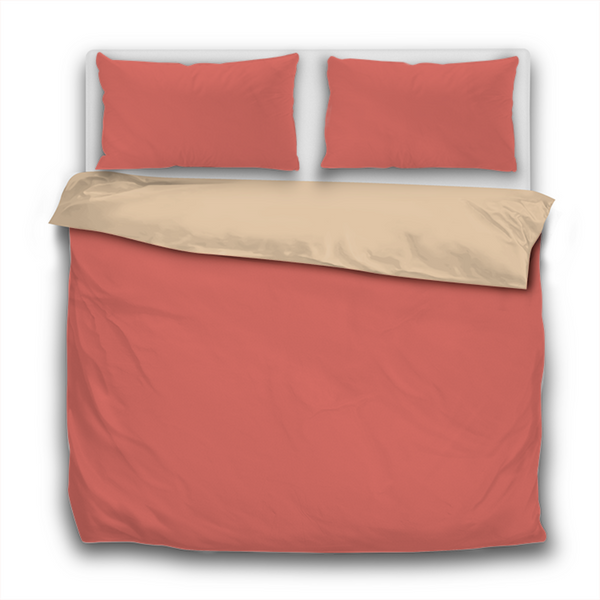 Duvet Set - 3pc Cover + Pillowcases - Living Coral