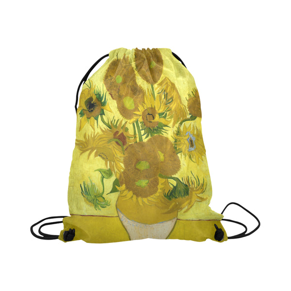 Van Gogh Sunflowers Drawstring Bag