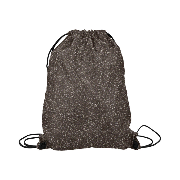 Black Glitter Drawstring Bag