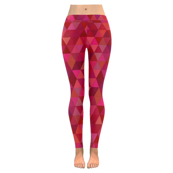 Berry Tri All-Over Low Rise Leggings