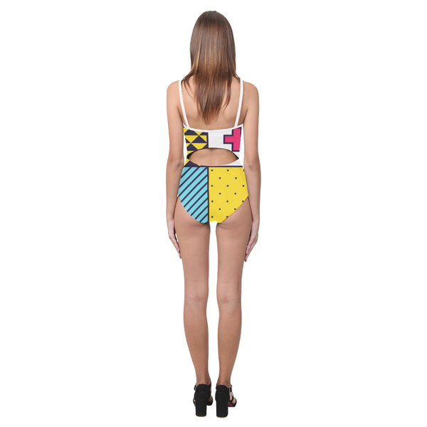 Monterey Open Back Skinny One Piece Swimsuit