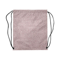 Rose Pink Glitter Drawstring Bag