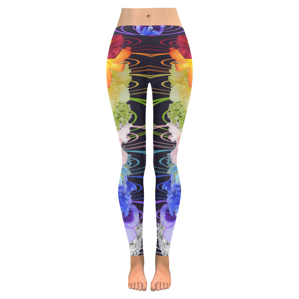Fantasy Flora B All-Over Low Rise Leggings