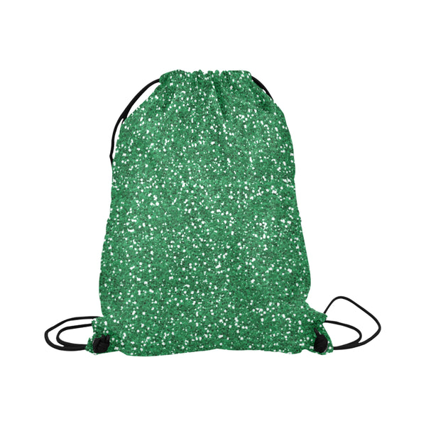 Green Glitter Drawstring Bag
