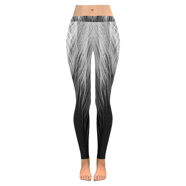 Feathers All-Over Low Rise Leggings