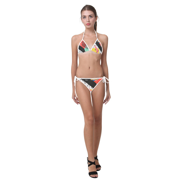 Maxwell Two Piece String Bikini - Triangle Top & Bottom with Ties