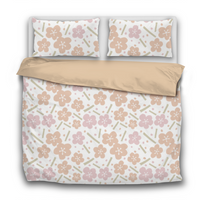 Duvet Set - Ume Japanese Blossoms - 3pc Cover + Pillowcases