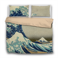 Duvet Set - 3pc Cover + Pillowcases - Hokusai The Great Wave Off Kanagawa