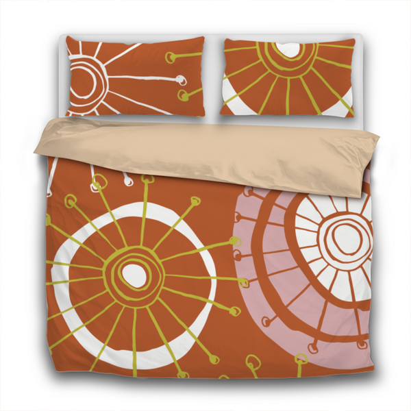 Duvet Set - 3pc Cover + Pillowcases - Fifties Inspired FI1