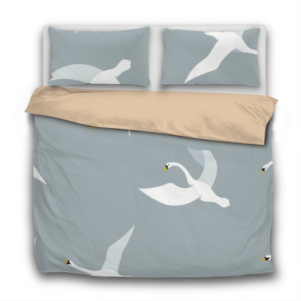 Duvet Set - 3pc Cover + Pillowcases - Swans