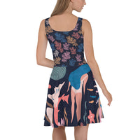 Skater Dress | Super Stretch Fabric | Full Flare Skirt | Bold Artist Design | Fashion Dance Sports Streetwear | AM2 Almost Mermaids