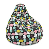 Bean Bag Chair With Filling Includes Removable Inner and Childproof Safety Zipper