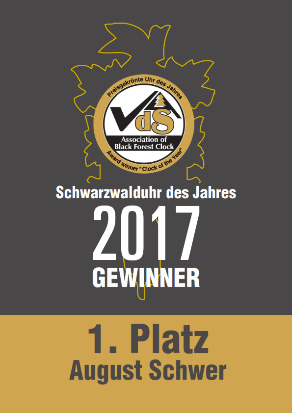 "[UPDATED] August Schwer - 8 times winners of ""Clock of The Year"""