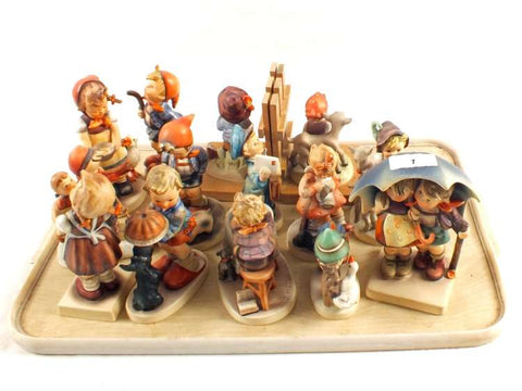 German Hand-Carved Wooden Figurines
