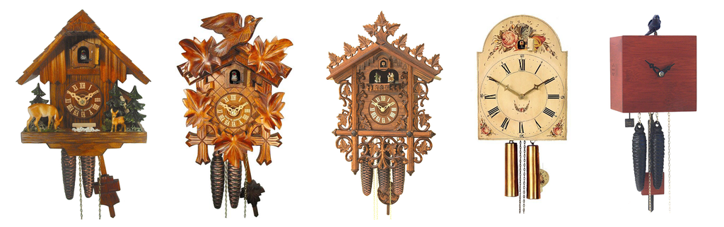 chalet carves shield antique modern cuckoo clock