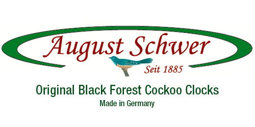 August Schwer Black Forest Germany Cuckoo Clock