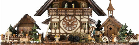figurines chalet cuckoo clock