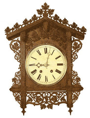 railroad house cuckoo clock black forest germany