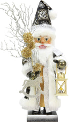 "Nutcracker - Glimmer Santa - Ltd Edition 1000 pcs - 20""H x 8""W x 7.5""D - German Cuckoo Clocks"