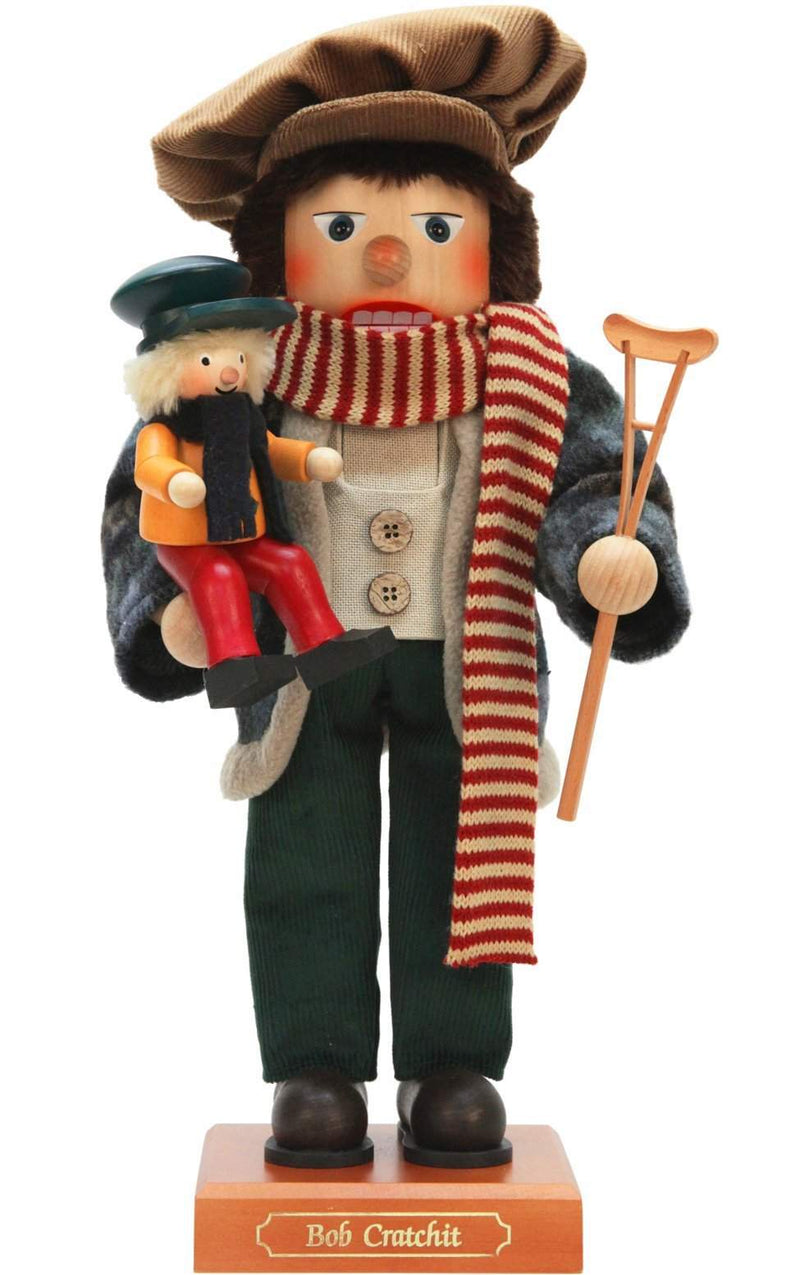 "Nutcracker - Bob Cratchit - Ltd Edition 1000 pcs - 17""H x 8""W x 8""D - German Cuckoo Clocks"