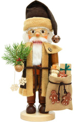 "Nutcracker - Santa (Natural) - 15.75""H x 9.5""W x 7""D - German Cuckoo Clocks"