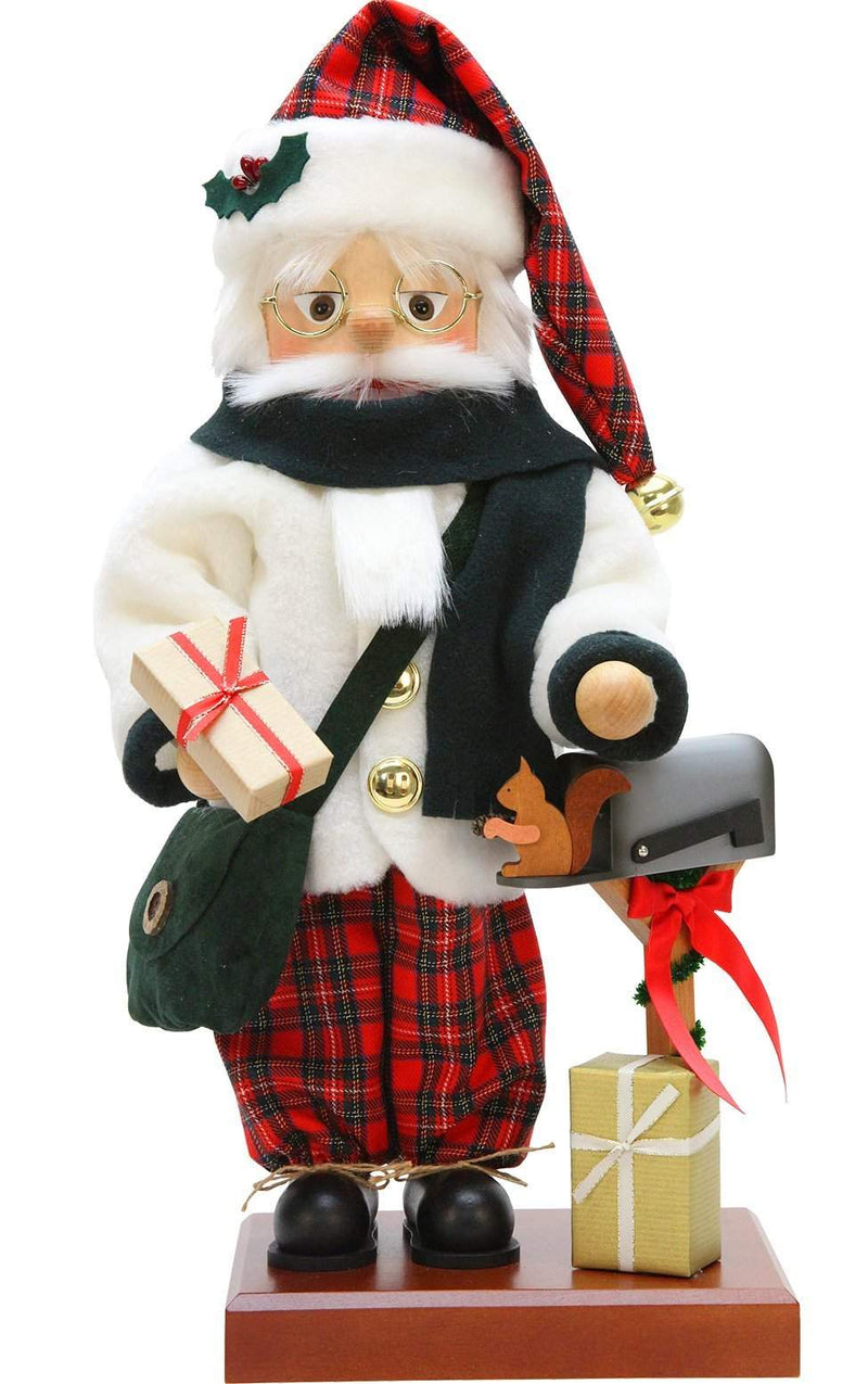"Nutcracker - Scottish Santa - 18.75""H x 8""W x 7.5""D - German Cuckoo Clocks"