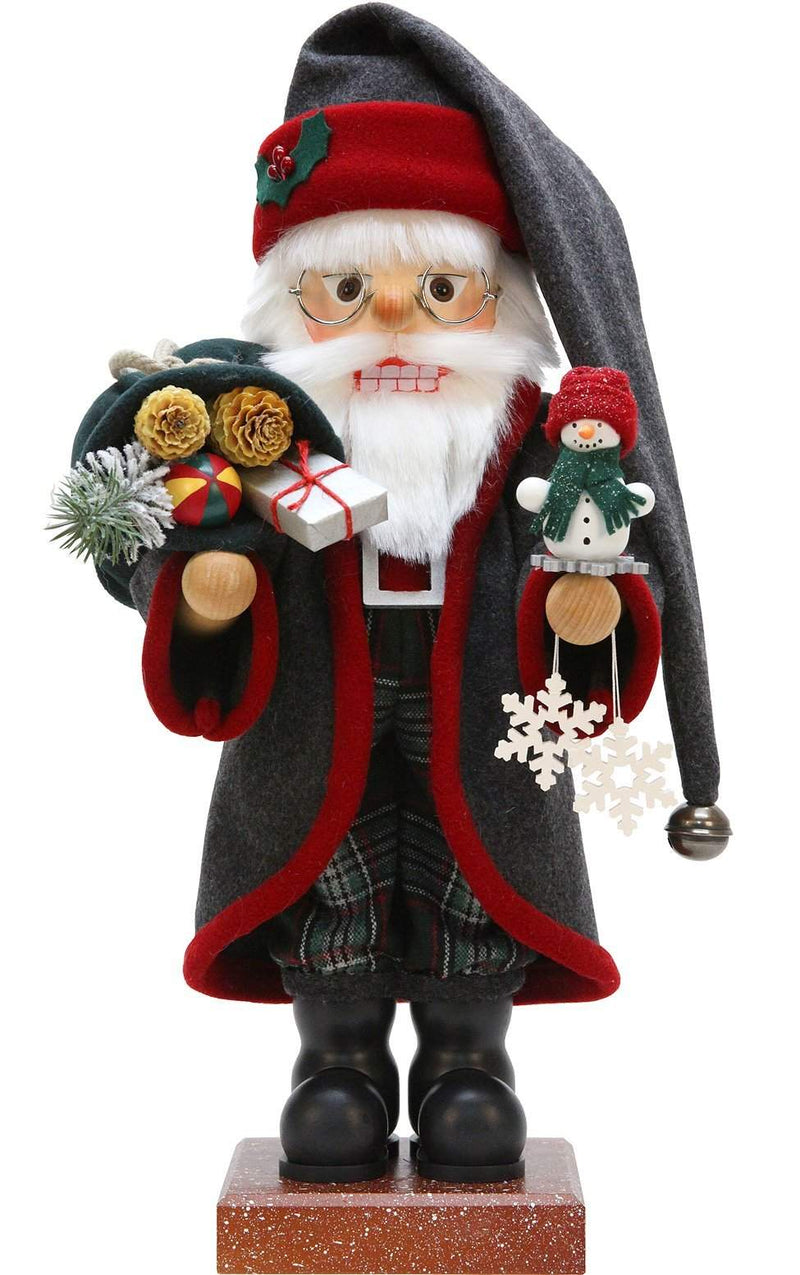 "Nutcracker - Father Frost - 19""H x 9""W x 8.25""D - German Cuckoo Clocks"