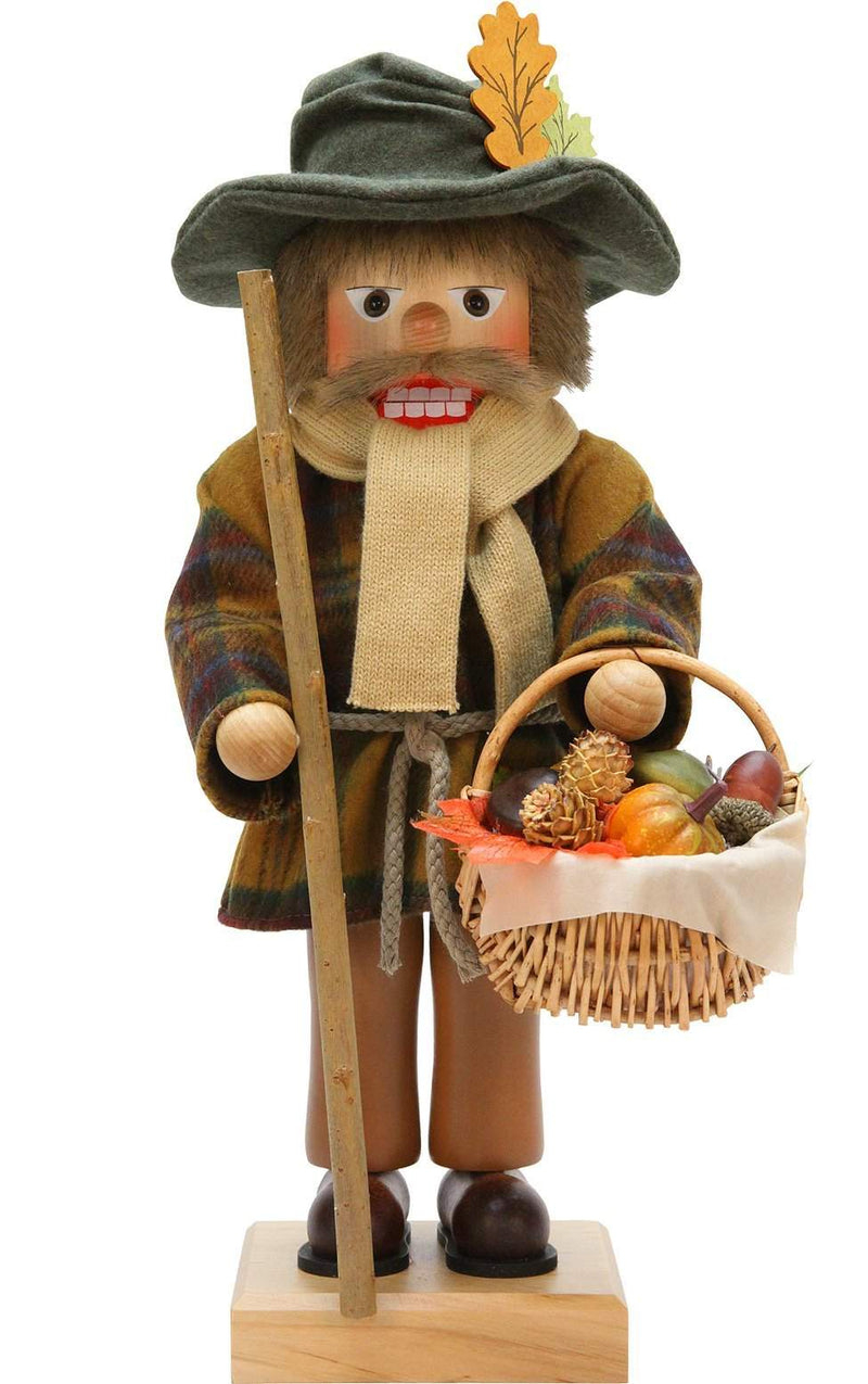 "Nutcracker - Harvest - 17.75""H x 9""W x 8""D - German Cuckoo Clocks"
