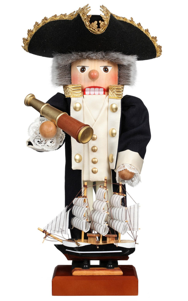 "Nutcracker -James Cook Ltd Edition 1000 pcs - 17.75""H x 9""W x 8""D"