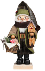 "Nutcracker - Forest Santa With Bird House - 19.1""H x 9""W x 8""D"