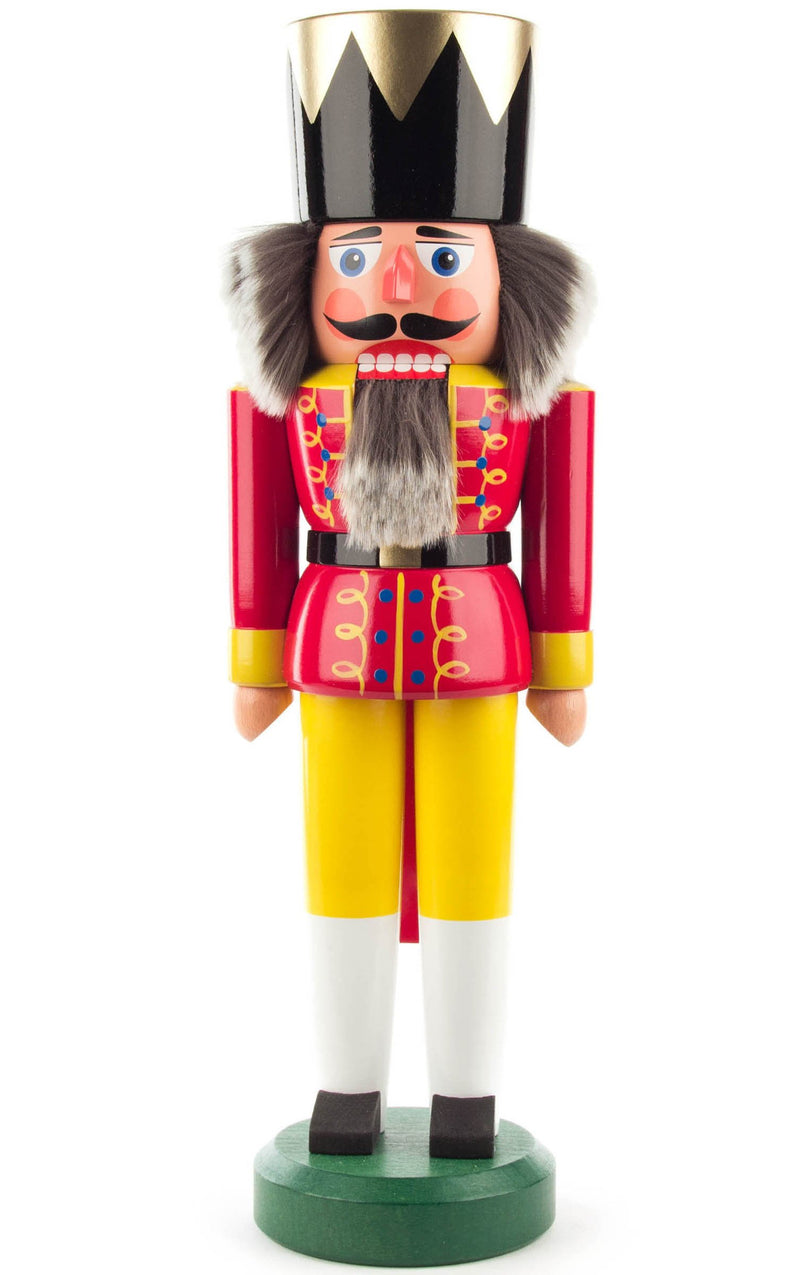 "Real German Nutcracker - Red King (Exclusive) - 15.5""H x 5""W x 4""D"