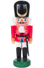 "Real German Nutcracker - Red Royal Soldier - 9.25""H x 3""W x 3""D"