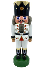 "Nutcracker - White King - 8.75""H x 3""W x 2.75""D - German Cuckoo Clocks"