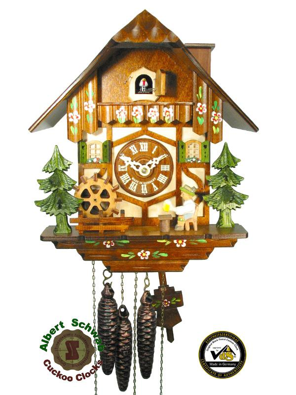 Cuckoo Clock 1-day Musical Chalet Beerdrinker 11.5 Inch by August Schwer