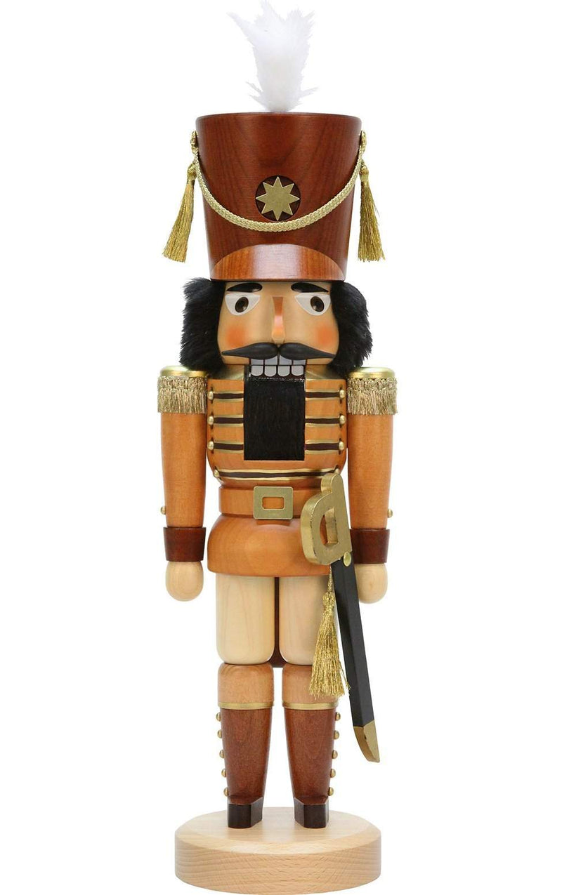 "Nutcracker - Soldier (Natural) - 17.5""H x 5.25""W x 4.25""D - German Cuckoo Clocks"