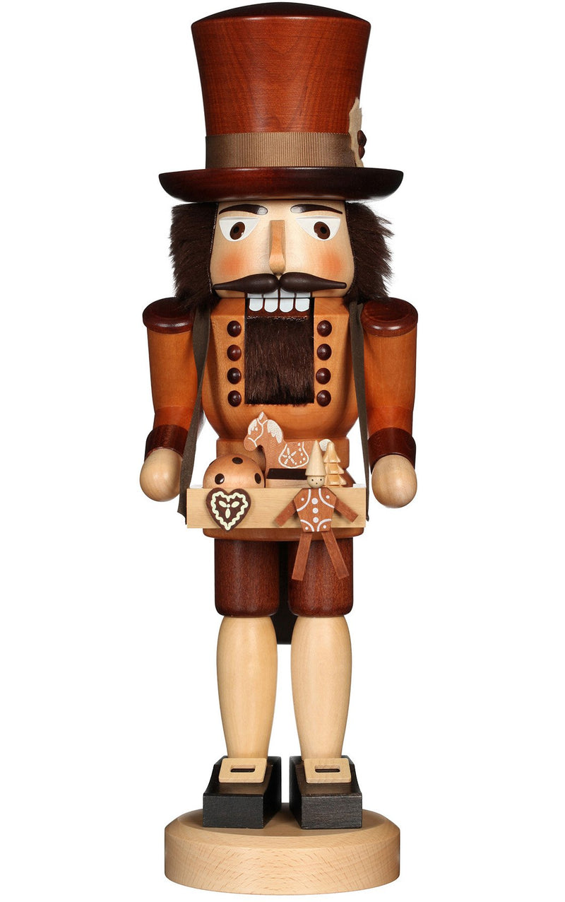 "Real German Nutcracker - Toy Trader (Natural) - 16.25""H x 5.25""W x 5""D"