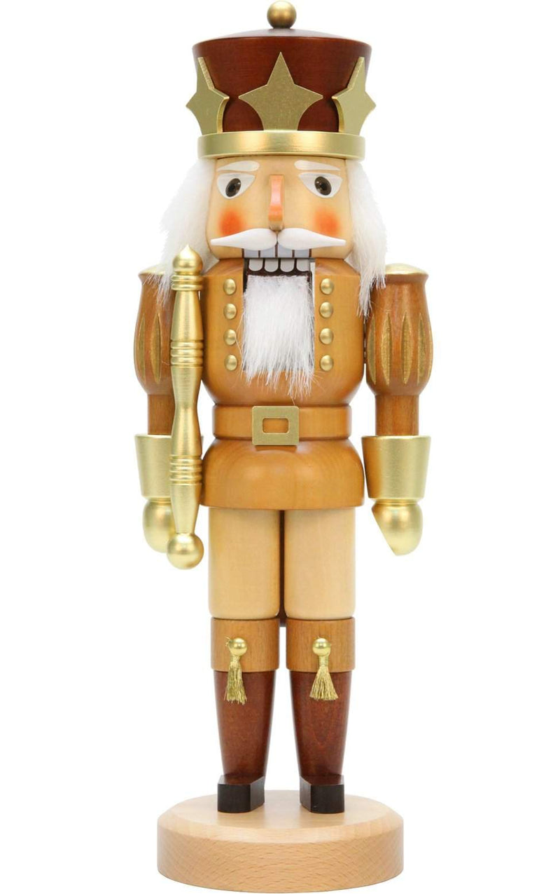 "Nutcracker - Gold Prince (Natural) - 15.5""H x 5.5""W x 3.5""D - German Cuckoo Clocks"