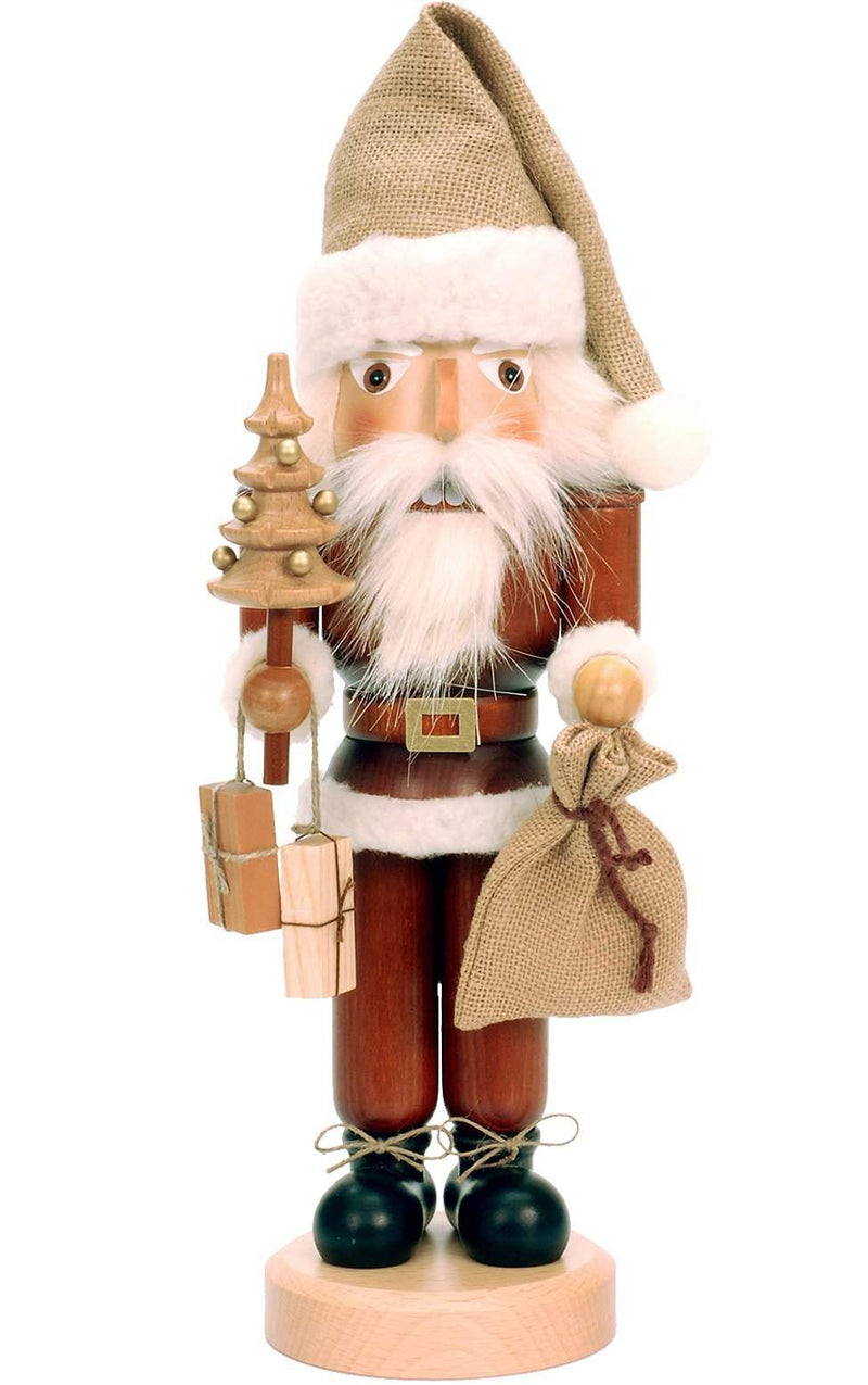"Nutcracker - Santa - 16.5""H x 5.5""W x 5""D - German Cuckoo Clocks"