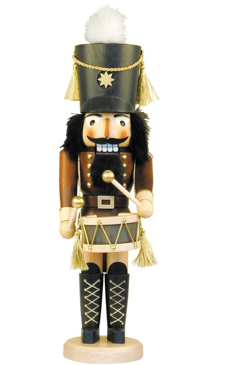 "Nutcracker - Drummer - 17""H x 5""W x 6""D - German Cuckoo Clocks"