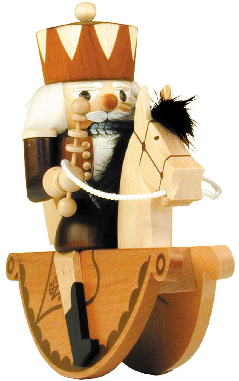 "Nutcracker - King Rider - 9.25""H x 10""W x 4""D - German Cuckoo Clocks"